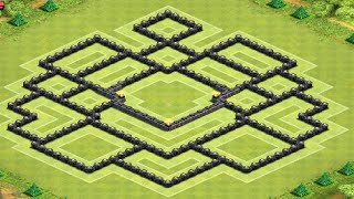 Clash Of Clans Best TH10 Trophy War Base Layout
