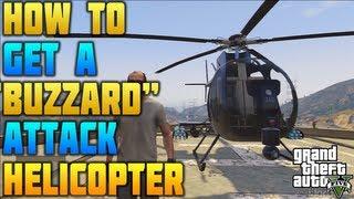 """""""GTA 5"""" """"BUZZARD HELICOPTER"""" How To Get A Buzzard"""