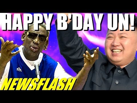 NEWSFLASH! Dennis Rodman Sings Happy Birthday to Kim Jong Un & Michael Bay Meltdown