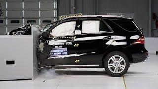 Mercedes M serisi kenardan çarpma testi - IIHS 2014