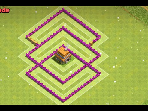 Clash Of Clans Town Hall 6(TH6) War Base 2016 Anti Dragon+Anti Giant+Anti Balloon