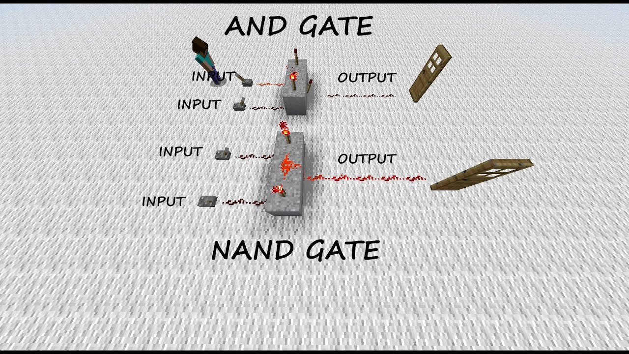 geoff u0026 39 s minecraft and  u0026 nand gate tutorial