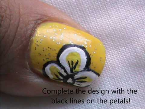 Spring Flowers Nail Art Easy Nail Design For Beginners Easy Nail