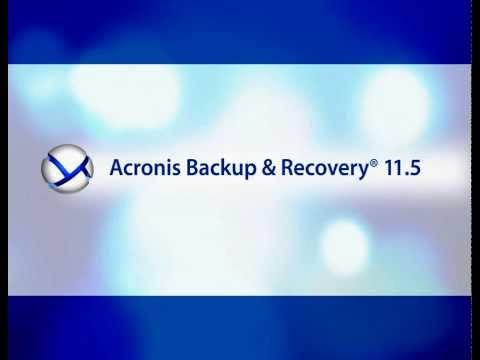 Demonstração Acronis Backup and Recovery