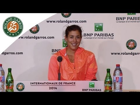 Press conference Garbine Muguruza 2014 French Open R2