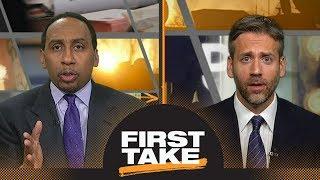 First Take debates Martellus Bennett's comments on marijuana in the NFL | First Take | ESPN