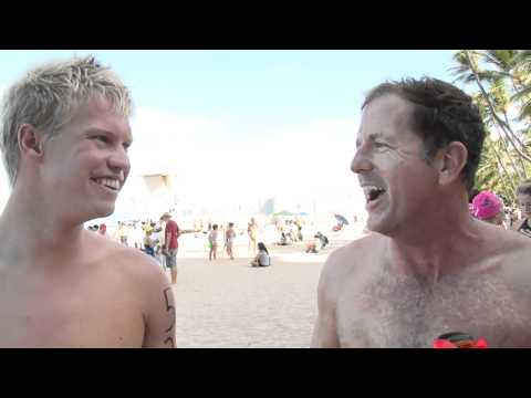 Mike Lewis Chip Peterson and Kane Radford - 2011 Waikiki Rough Water Swim