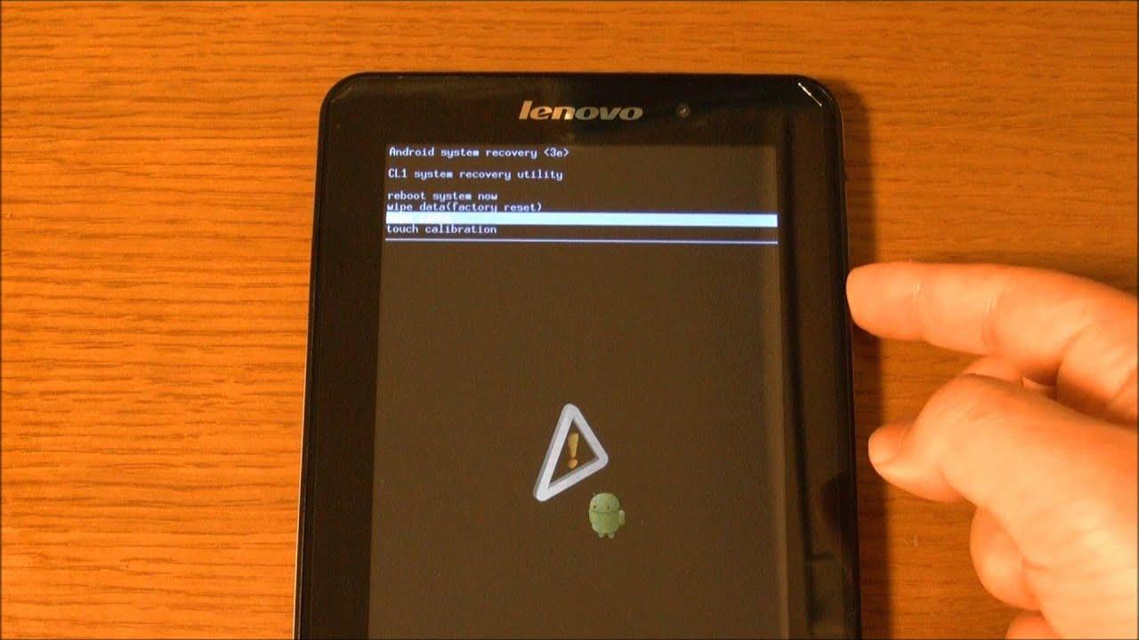 Как сделать hard reset на lenovo tablet 10