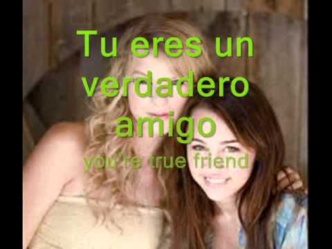 Miley Cyrus - True Friend  (subtitulada en español e ingles)