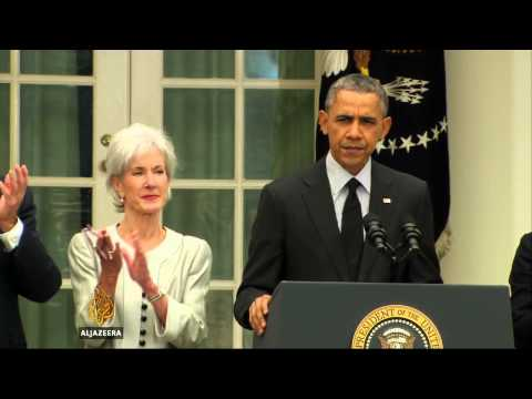 US health secretary Kathleen Sebelius resigns