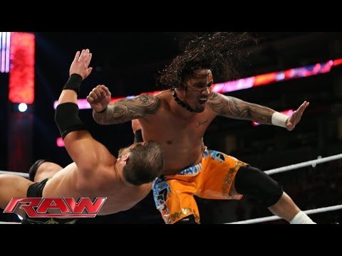 The Usos vs. Ryback & Curtis Axel: Raw, Feb. 10, 2014