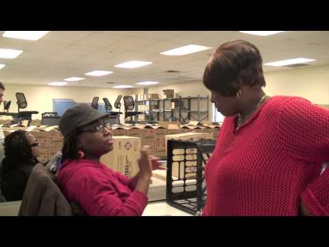 Sarita is blind, deaf, and employed