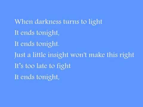 All American Rejects - It Ends Tonight Lyrics   MetroLyrics