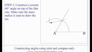 Constructing Angles Without Using A Protractor