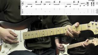 Jimi Hendrix Foxy Lady Rock Guitar Lesson (with Tabs