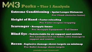 ★ Modern Warfare 3/MW3: BEST Tier 1 Perk! | Sleight of Hand Extreme Conditioning Blind Eye Recon