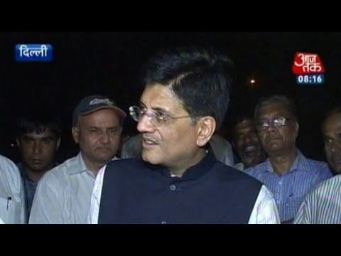 Power minister Piyush Goyal conducts surprise check in Delhi