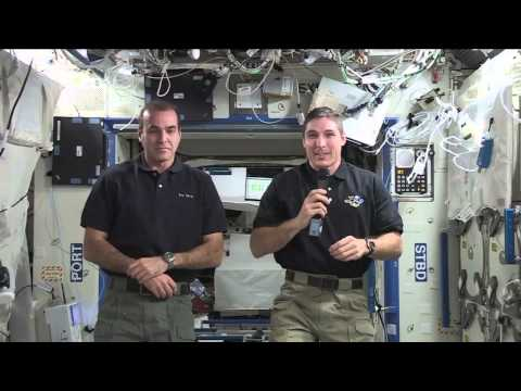 NASA Crew Members on the International Space Station Discuss Life in Space with the Media