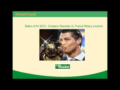 Ballon d'Or 2013 : Cristiano Ronaldo rit, Franck Ribéry s'incline