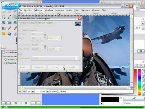 Gimp Videotutorial Italiano Parte 6 - Ridimensiona immagine