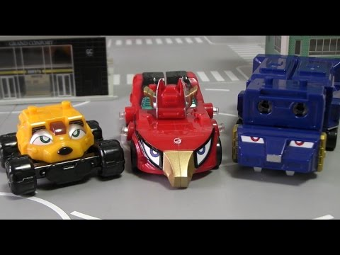 đồ chơi Siêu Nhân Cơ Động 파워레인저 엔진포스 미니 G3 엔진킹 자동차 변신 장난감 Go ongers Toys