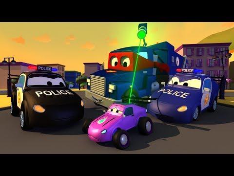 những chiếc xe cảnh sát - Carl và Xe Nâng  🚚