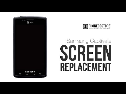 How to repair a Samsung Captivate i897 glass screen repair / LCD