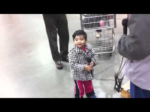 Shreya giving Concert in Seattle Costco