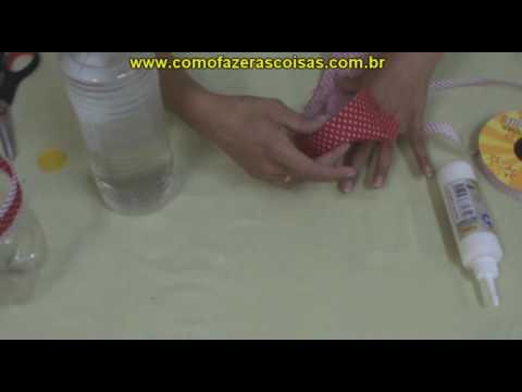 Como fazer uma cesta de garrafa pet - parte 5