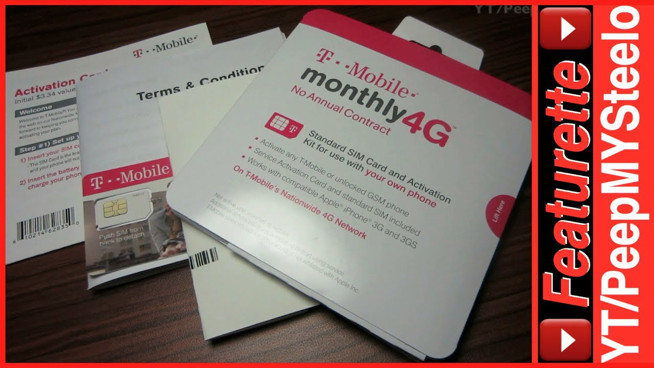 Tmobile prepaid no contract sim card activation kit for for T mobile refill