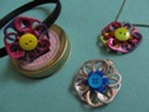 Reciclaje: Collar + Dije de Flor MULTIUSOS