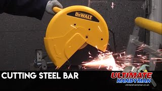 Cutting steel bar