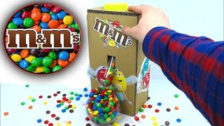 How to Make M&M's Chocolate or Skittles Candy Machine at Home