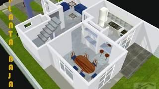 Arquitetura projeto residencial de 2 pavimentos parte 2 for Casa moderna minimalista 6 00 m x 12 50 m 220 m2