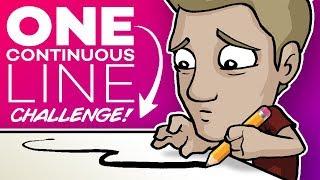 ONE LINE ART CHALLENGE! - 🚫DON'T LIFT YOUR PEN!🚫
