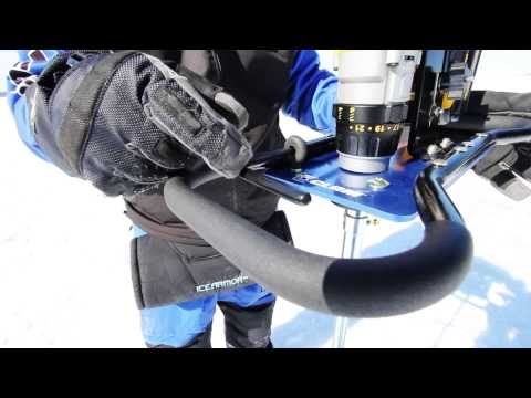 Clam drill auger conversion kit combo for Humminbird ice fishing conversion kit