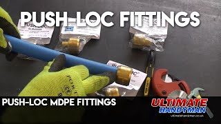 Push-Loc MDPE fittings