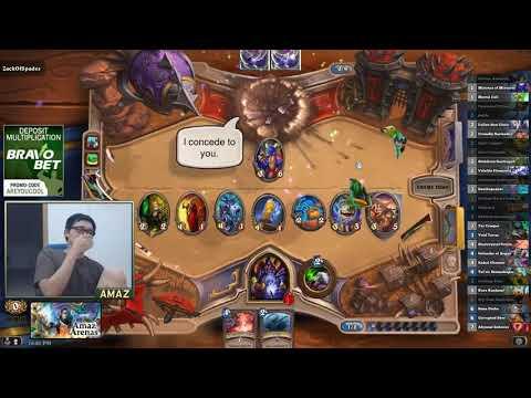 Hearthstone   Amaz   Warlock 12 Wins Arena   No Legendary No Epic !