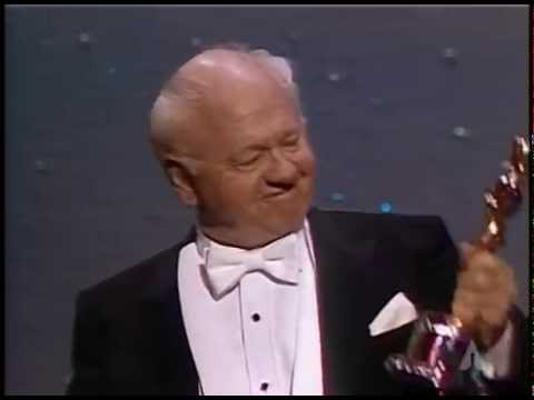 Mickey Rooney receiving an Honorary Oscar®