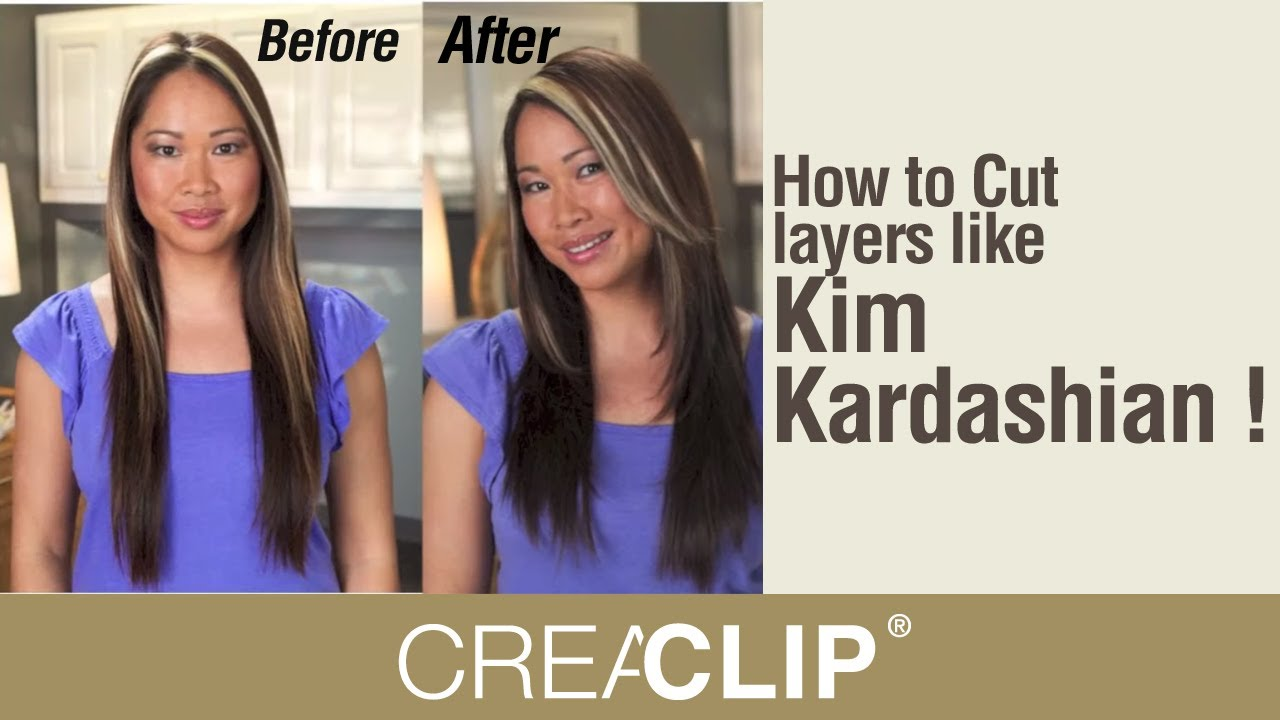 how to cut your own hair in layers shoulder length