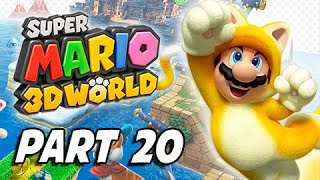 Super Mario 3D World Walkthrough Part 20 - Deep Jungle Drift (100% Green Stars & Stamps)