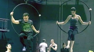 Dhoom:3 behind the scenes: Aamir Khan and Katrina Kaif turn acrobats