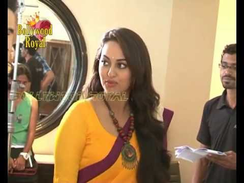 Sonakshi Sinha and Imran Khan on the set of 'CID' 2