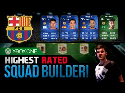 FIFA 14 | HIGHEST RATED BARCELONA SQUAD! feat. 98 TOTY Messi!