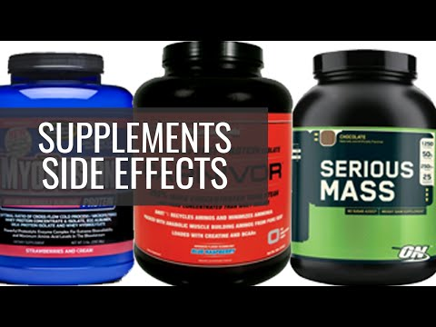 Side effects of supplements