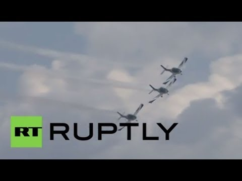 Germany: Merkel on hand as world's oldest airshow begins