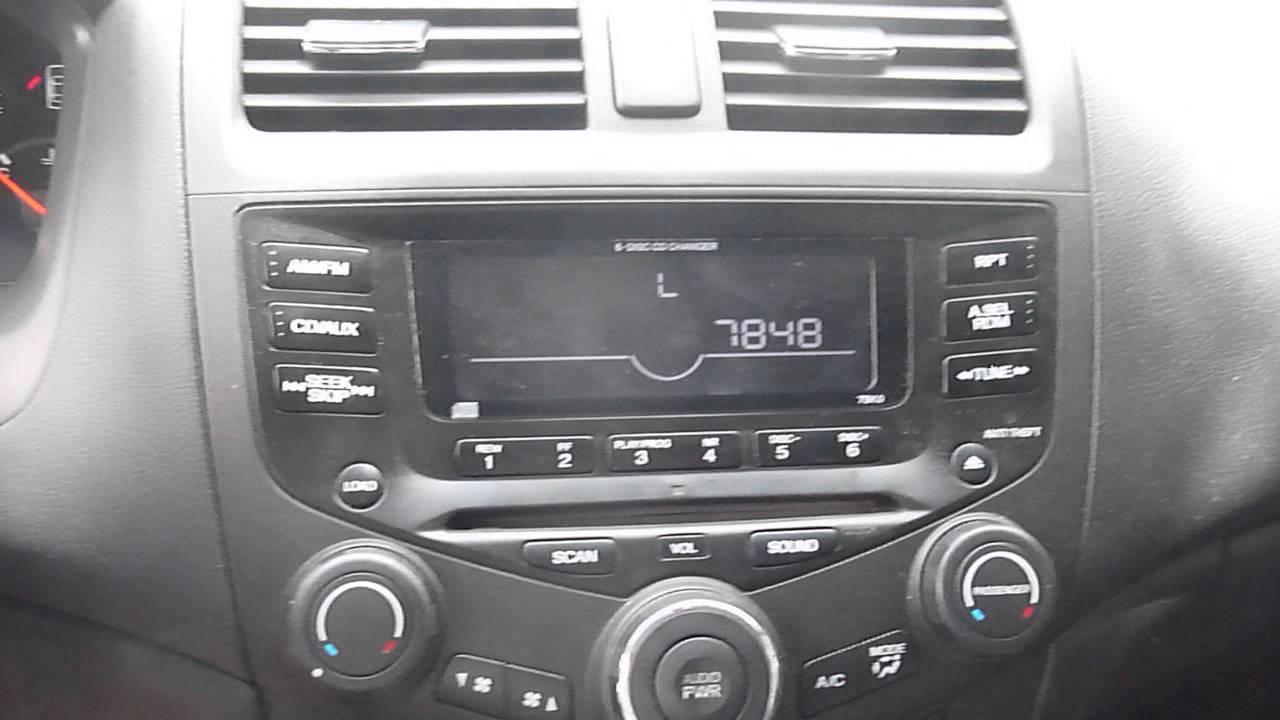 Honda Accord Radio Unlock Instructions and Codes - YouTube