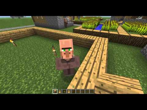Minecraft Tutorial 1.4.4 - Capture and Breed Villagers