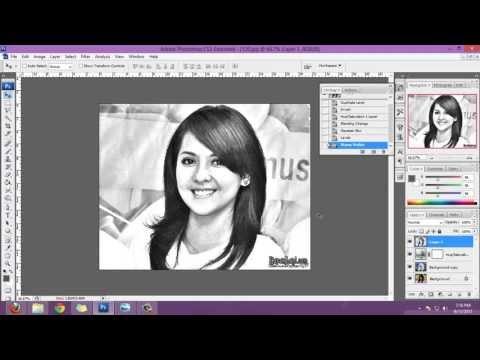 cara gampang membuat sketsa pensil dari photoshop