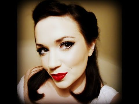 Old Hollywood Pin-up Girl tutorial - Vintage